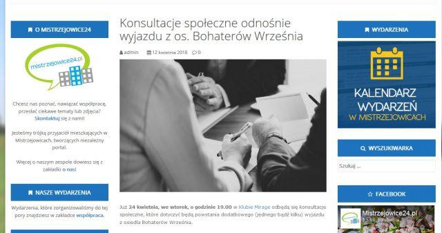 mistrzejowice24.pl piszą o nas!