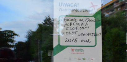 Zebranie Ogólne Mieszkańców na Osiedlu Morcinka – Budżet Obywatelski z udziałem akcji Masz Głos Masz Wybór