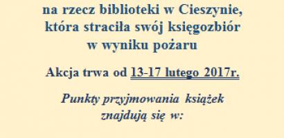 Młodzieżowa Rada Gminy włączyła się w akcję niesienia pomocy Bibliotece Miejskiej w Cieszynie