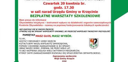 Jawność dla mieszkańców Gminy Krzęcin – warsztaty szkoleniowe