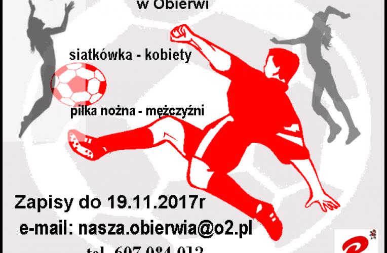 """Turniej """"JESIENNA HALÓWKA 2017"""" w Obierwi – zapisy"""