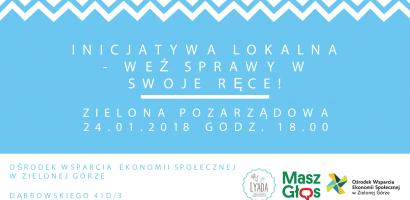 Inicjatywa Lokalna w Zielonej Górze cz. 2 – warsztaty