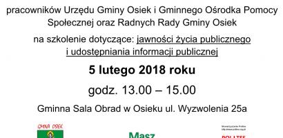 MaszGłosowe szkolenia w Gminie Osiek