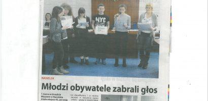 Lokalna prasa o naszych działaniach
