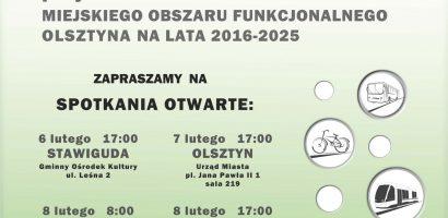 """Konsultacji Społecznych dotycząca """"Założeń do planu mobilności Miejskiego Obszaru Funkcjonalnego Olsztyna na lata 2016-2025"""""""