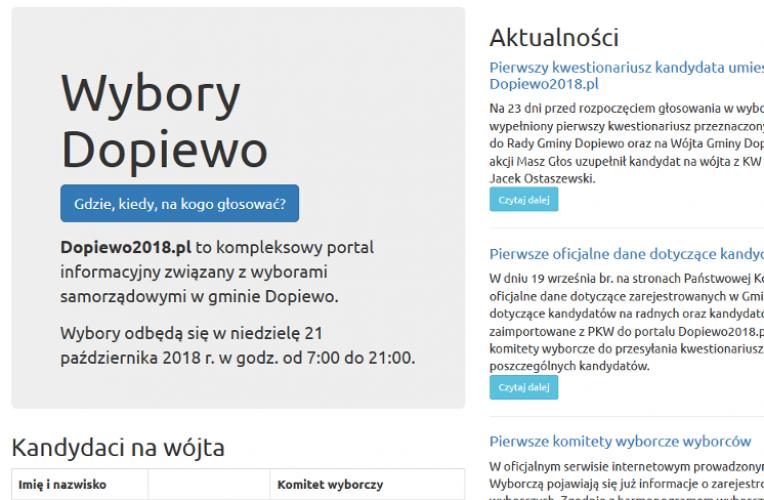Portal www.dopiewo2018.pl