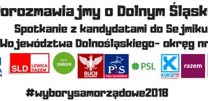 Porozmawiajmy o Dolnym Śląsku- spotkanie kandydatów do Sejmiku Województwa z mieszkańcami okręgu
