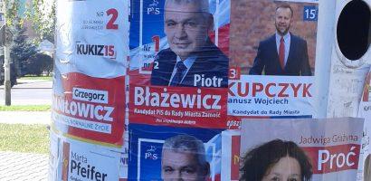 Ostatnie bitwy na hasła i plakaty wyborcze