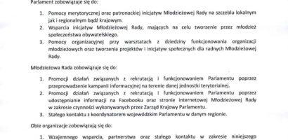 Porozumienie MRM w Murowanej Goślinie z Parlamentem Młodzieży RP