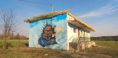 Malowanie muralu – dzień pierwszy!