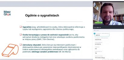 Nagranie webinarium: jak chronić sygnalistów w samorządach?