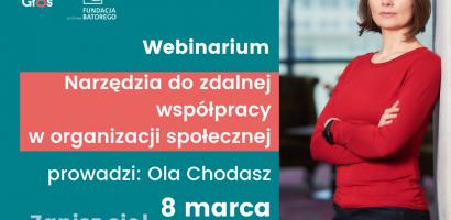 Webinarium: narzędzia do zdalnej wspópracy w organizacji społecznej