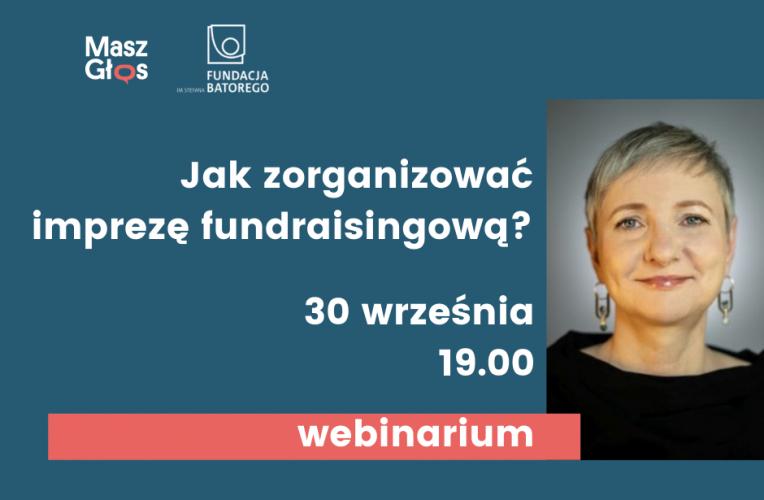 Webinarium: jak zorganizować imprezę fundraisingową?