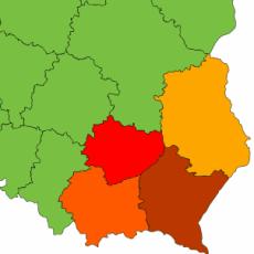 Logo grupy Lubelskie, Małopolskie, Podkarpackie, Świętokrzyskie 2016/2017